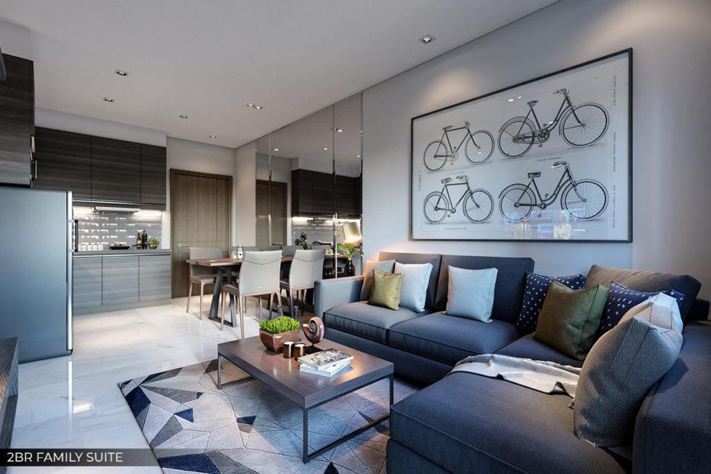2 Bedroom Suite Sala